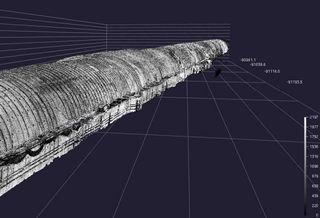 トンネルを3Dレーザースキャンした例