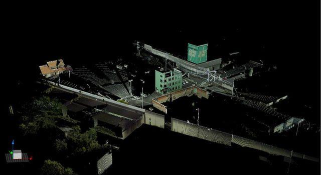 (画像:当社社屋を3Dスキャンしたもの)